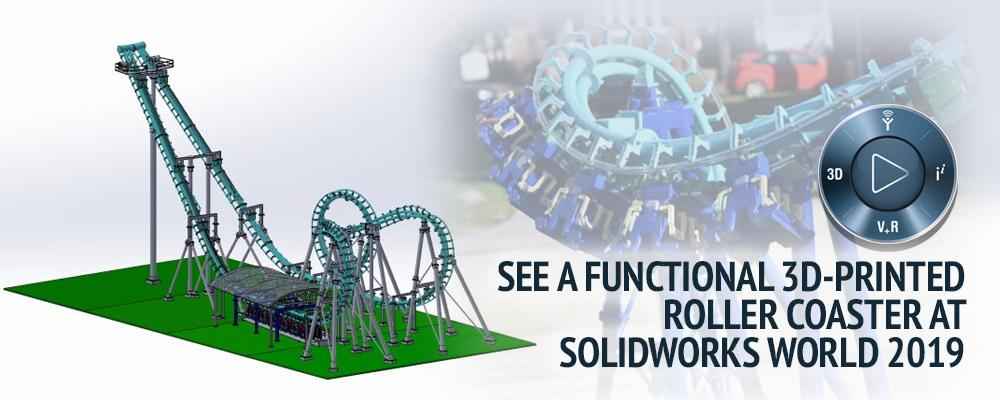 Functional 3D-Printed Roller Coaster